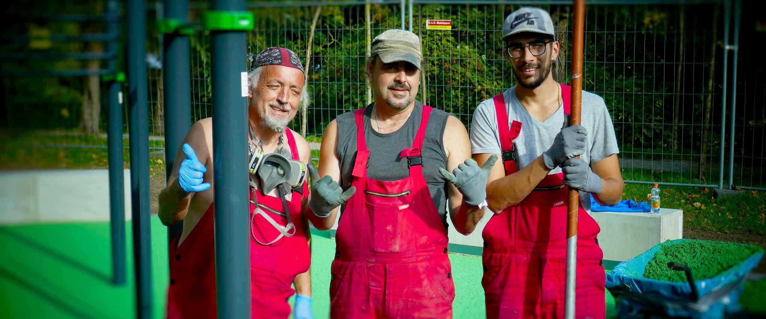 Manuel Rodrigues, Schorsch Duarte und Jonathan Faria (v.l.n.r.)