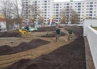 Spielplatz Tiefgaragendach